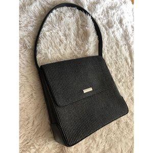 Nine West black leather basket purse